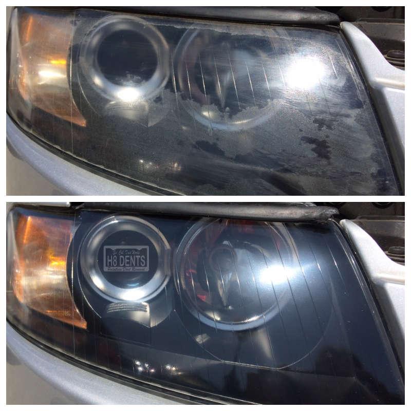 Audi Headlight Restoration So Cal Dent Works H8 Dents