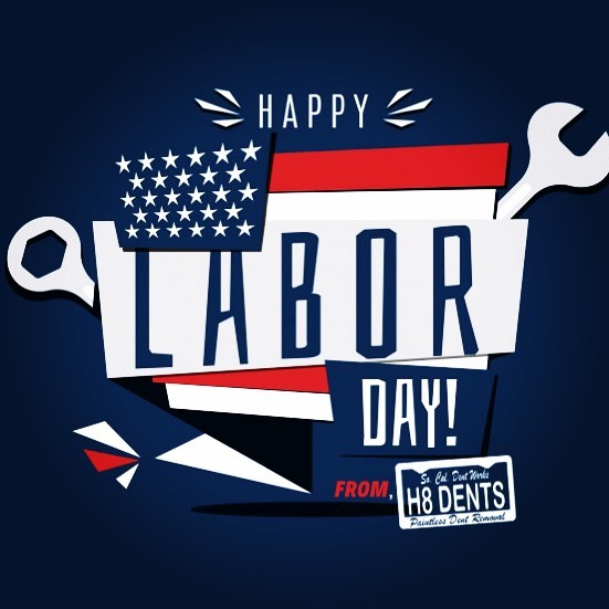 Wishing Everyone A Happy Labor Day!! #LaborDay #HardWork #dentremoval #paintlessdentremoval #paintlessdentrepair