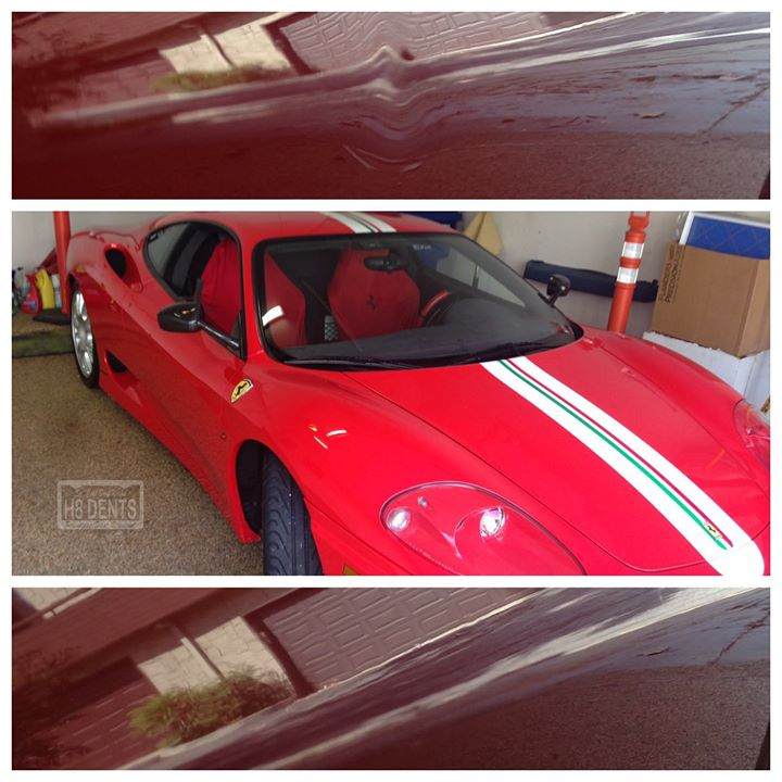 We Work On All Exotics including Ferrari's! #h8dents #dentrepair #dentremoval #dentdoctor #paintlessdentremoval #becauseithappens @ Glendale, California